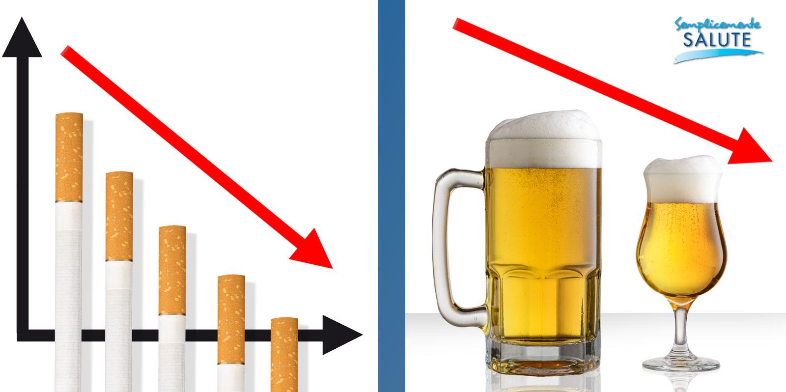 Meno alcol se si dice addio al vizio del fumo