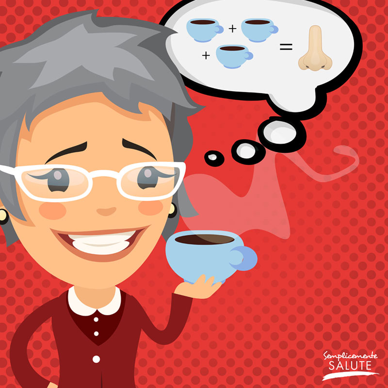 Troppo caffe Annusa le urine