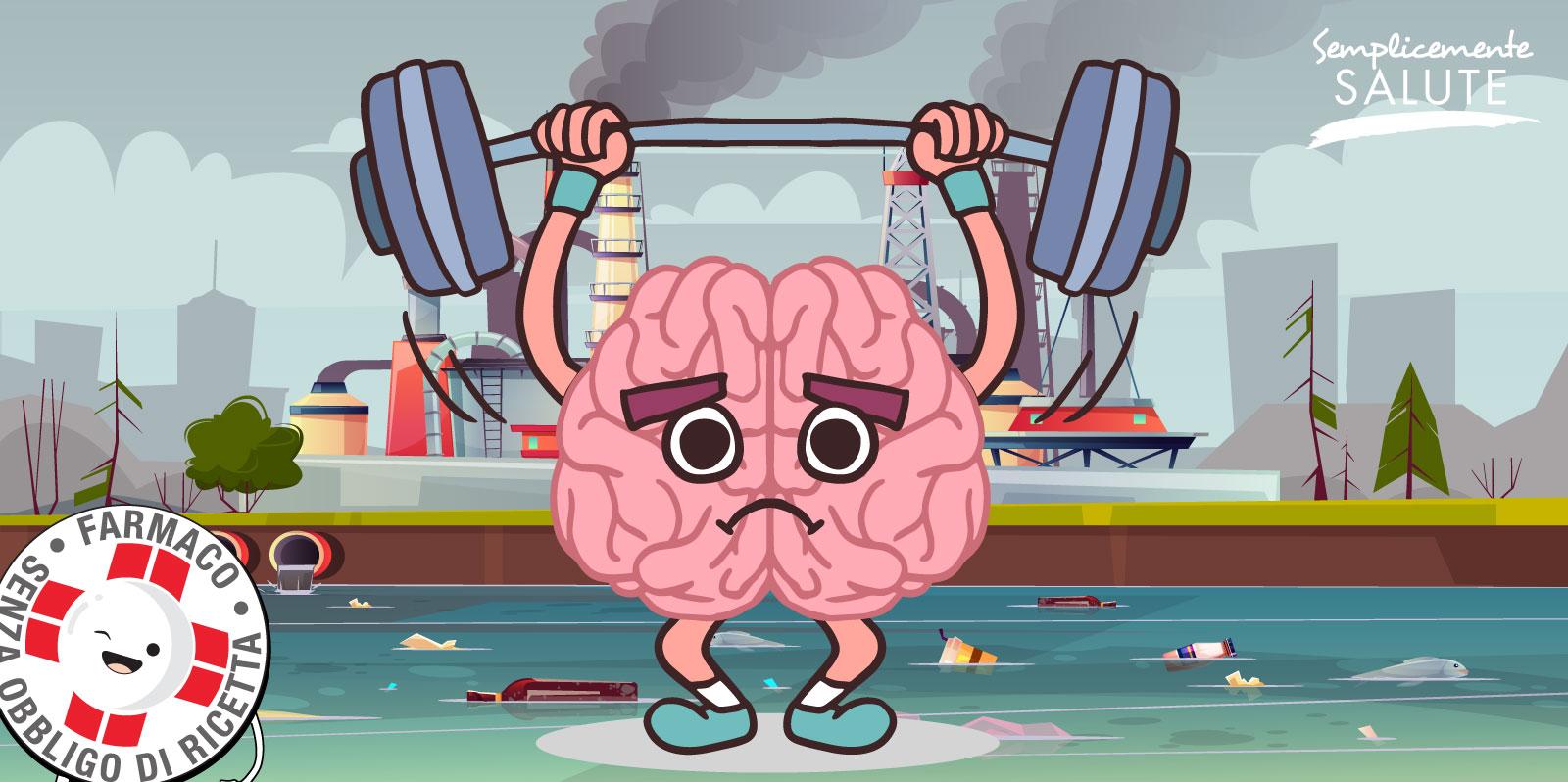 Troppo inquinamento cervello in tilt