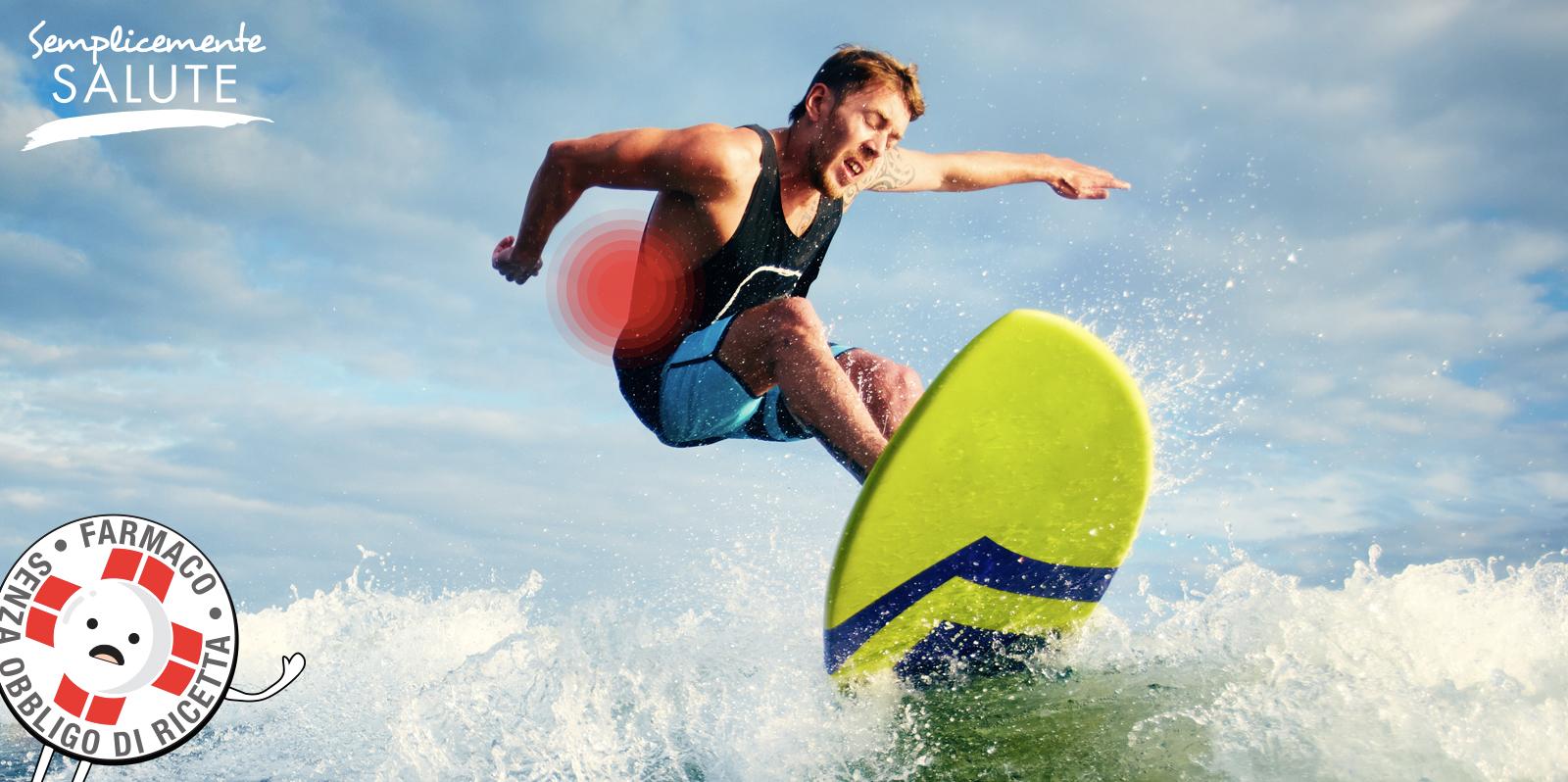Via sul surf ma occhio alla schiena